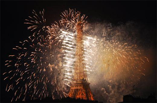 Eiffel Tower on FIRE