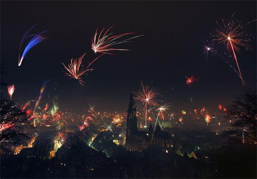 New Year in Freiburg