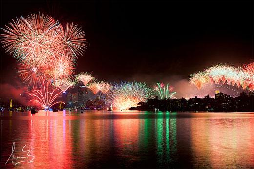 New Year's Fireworks Sydney 2012