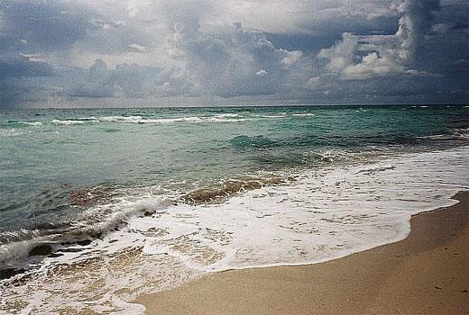 Cloudy day at the beach (in South Beach Miami)