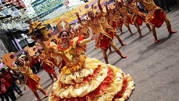 Celebrating Sinulog in Cebu, Philippines