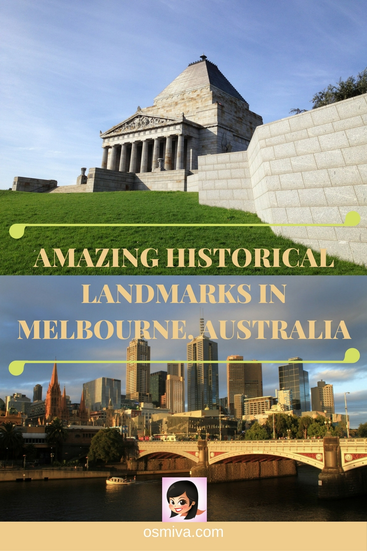 Amazing Historical Landmarks in Melbourne, Australia. Melbourne Landmarks. List of places to visit in Melbourne for history-buffs out there. #melbourne #historicallandmarks #melbournelandmarks #melbournethingstodo #melbourneaustralia #osmiva