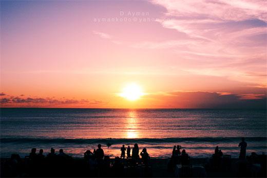 Sunset at Bali's Beach