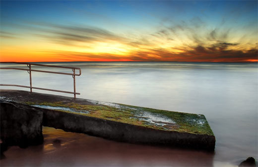 Trig Beach Ramp Sunset