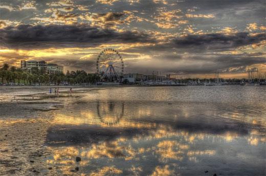 Eastern Beach Sunset HDR