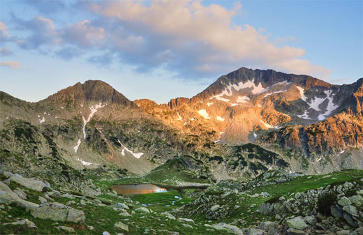 Pirin Mountain at Sunset