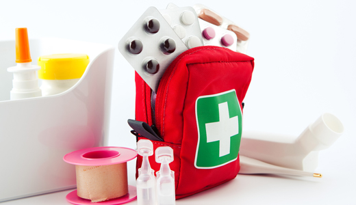 Bring medicines and first aid kit