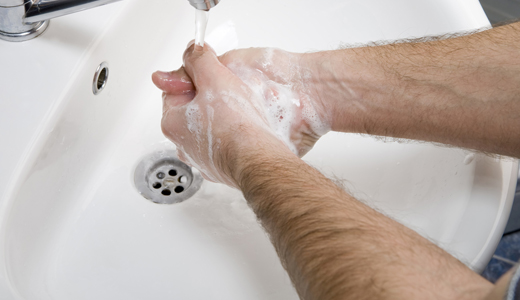 Avoiding Sickness Food: Wash your hands