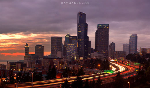 Last Rays Over Seattle