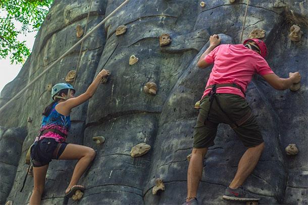 Wall Climbing at Plantation Bay