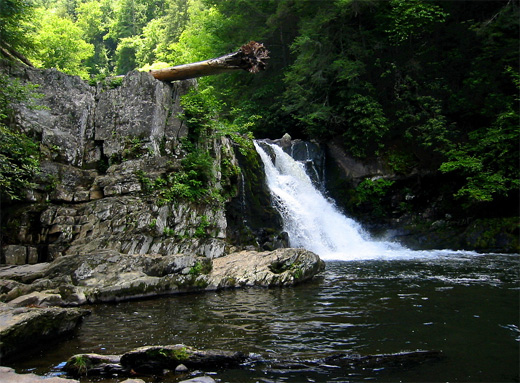 waterfall smoky mountains