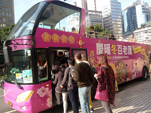 Hong Kong Macau Itinerary: Open Top Bus Macau Sightseeing Tour