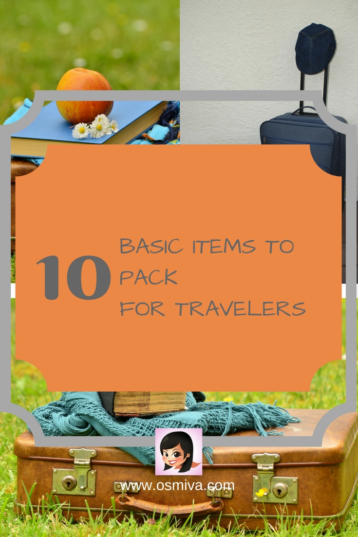 Basic Items To Pack