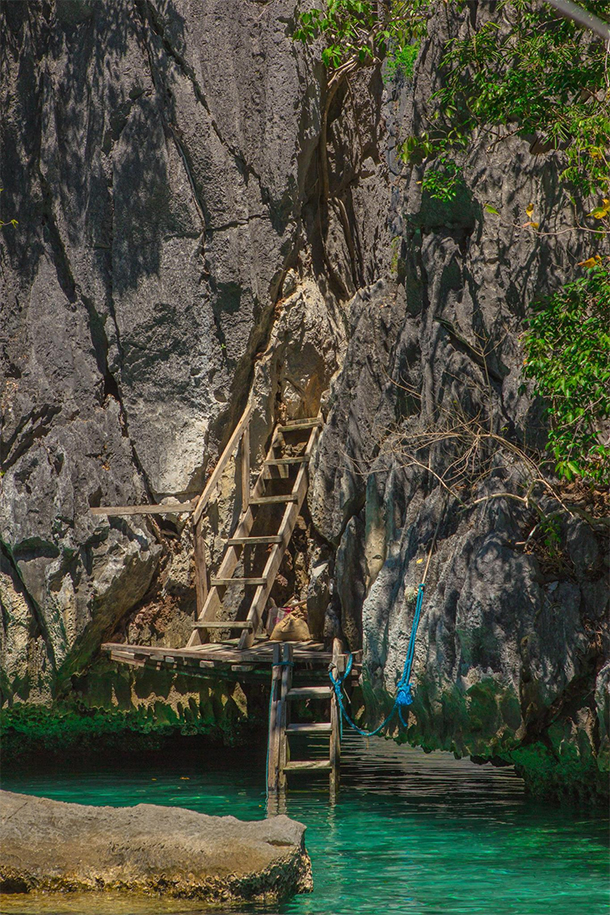 Coron Ultimate Tour Twin Lagoons Ladder