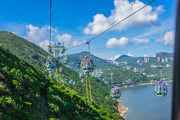 HK Ocean Park Cable Car View