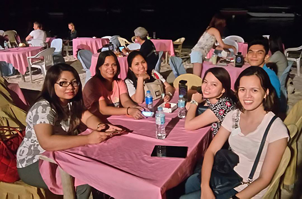 Business Travels Panglao Dinner