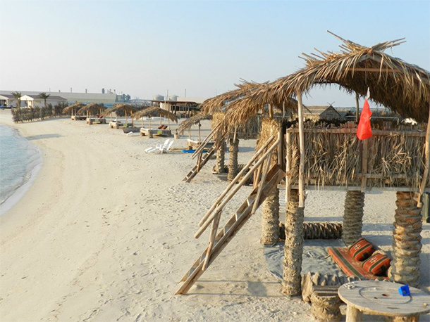 Bahrain Attractions Al Dar Island Beach Hut