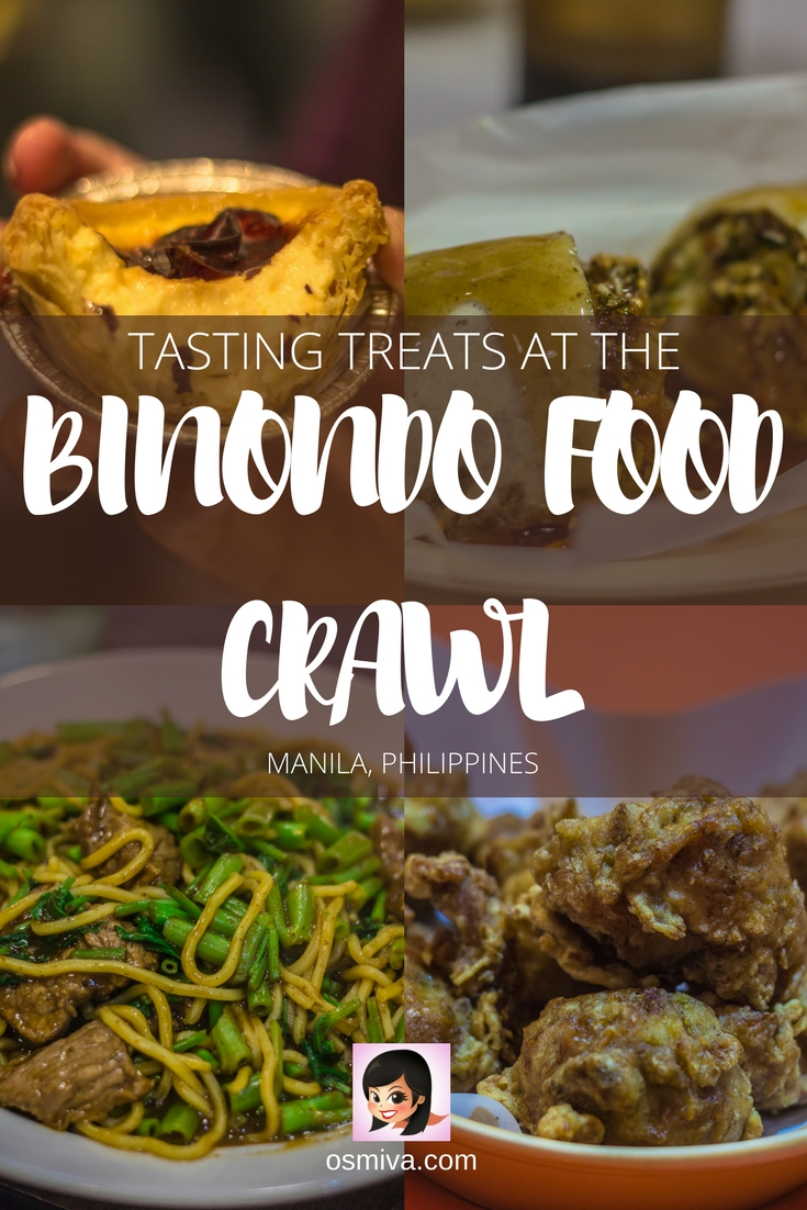 Tasting Treats at the Binondo Food Crawl. Tips on how to get there as well as location of the restaurants, opening hours and contact numbers. #travelph #binondo #binondofoodcrawl #chinatownph #choosephilippines #itsmorefuninthephilippines #travel #osmiva