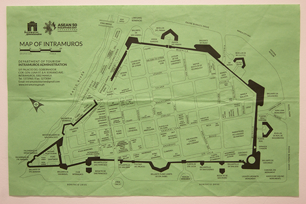 Intramuros Walking Tour: Intramuros Map