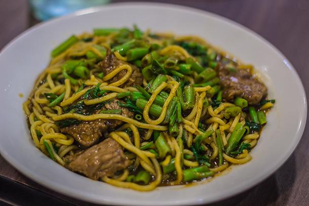 Beef Sate with Kangkong