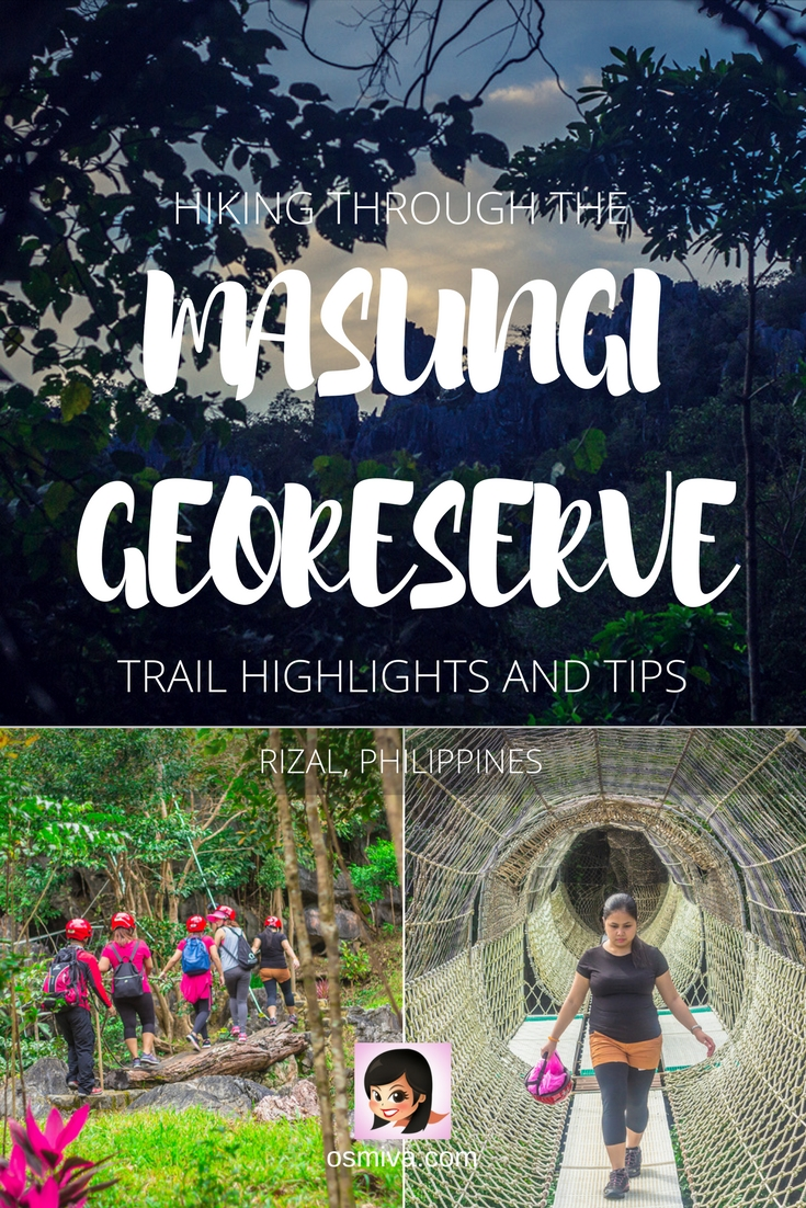 Hiking the Masungi Georeserve: Trail Highlights and Tips. Complete guide on hiking the Masungi Georeserve including how to get there, what to expect, fee, reminders, tips and trail highlights. Enjoy a day with friends and family at this fantastic trail!  #travelph #philippines #rizalphilippines #masungiGeoreserve #osmiva @osmiva
