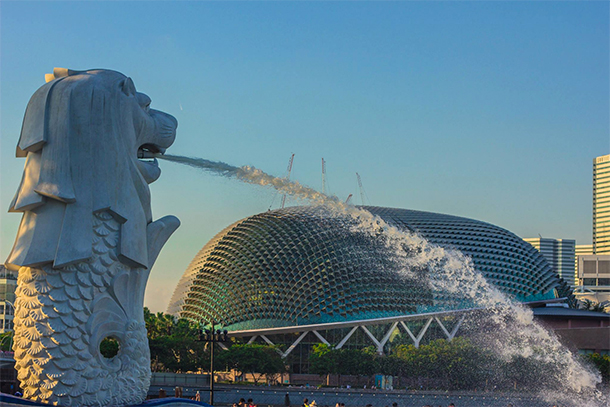 Singapore Photography: Merlion and Esplanade