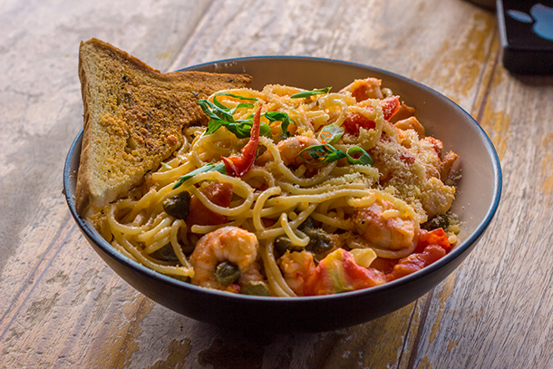 Restaurants in Dumaguete: Gabby's Bistro Shrimp Scampi