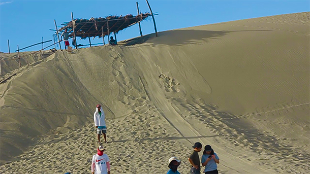 Paoay Sand Dunes: Sand Boarding Area