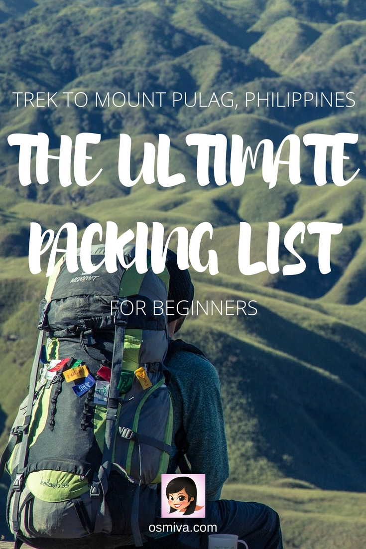 Ultimate Mount Pulag, Philippines Trek Packing List for Beginners #packinglist #mtpulag #philippines #osmiva