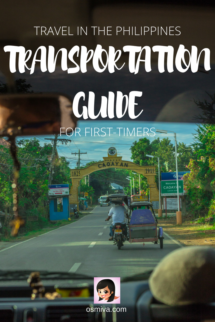 Travel Tip: A Basic Guide to the Transportation in the Philippines. Traveling in the Philippines can be pretty confusing especially if you are not a local. Here's a basic guide on what to expect as well as the public transportation system that you should be mindful when traveling around the country. #traveltips #transportationinthephilippines #philippinestravel #landtrip #travelingbysea #travelingbyair #osmiva