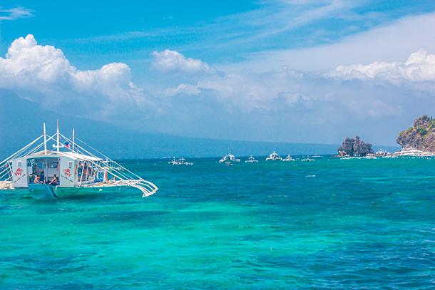 Negros Oriental Photos: Boats At Apo Island