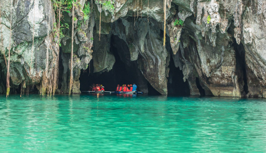 Popular Tourist Spot is the Puerto Princesa Subterranean River National Park