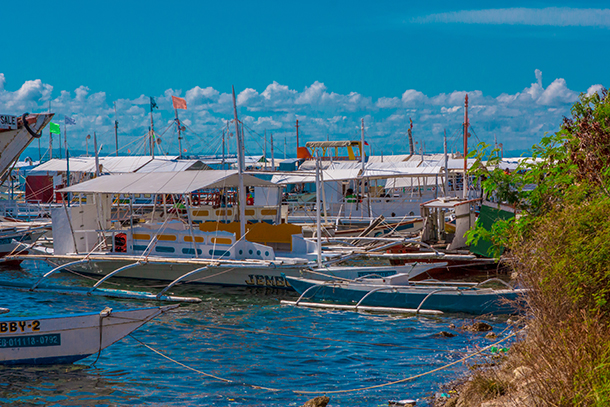 Bohol Island Hopping: PumpBoats at Cordova Port