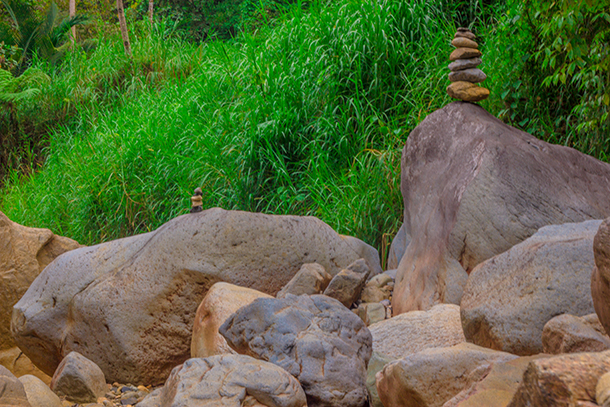 Negros Oriental Photos: Stack of Rocks Near the Falls