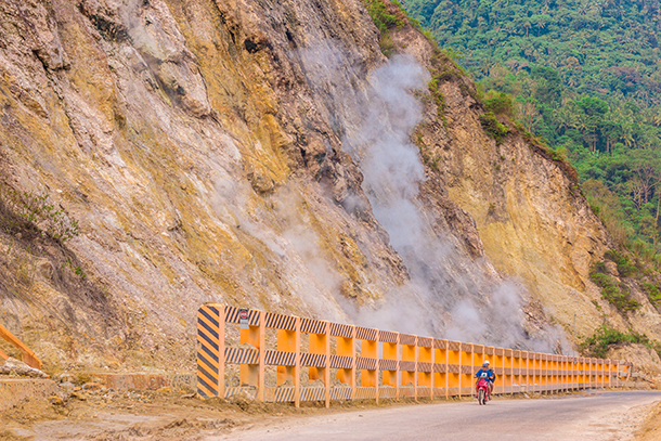 Negros Oriental Photos: Road Near the Sulfur Vent