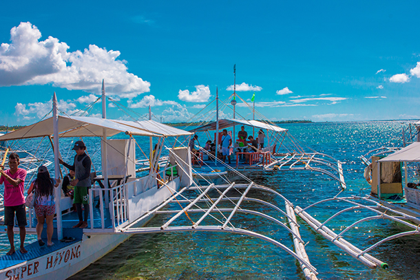 Bohol Island Hopping: Boat Used for Island Hopping