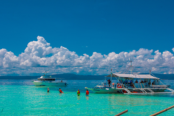 Bohol Island Hopping: South Sandbar at High Tide