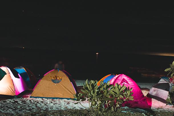 Kalanggaman Island: Tents