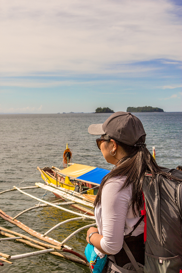 Sambawan Island and Kalanggaman Island Tour: Me Facing the Boats