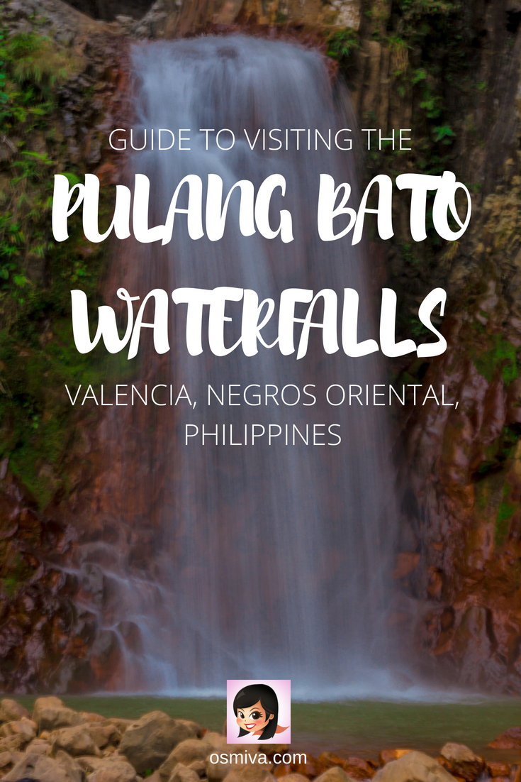 Guide To Visiting Valencia's Pulangbato Falls in Negros Oriental, Philippines. List of things to do when visiting one of Valencia's popular waterfalls. Includes guide on how to get there from Dumaguete City. #travel #travelph #pulangbatofalls #valencia #negrosoriental #philippines #choosephilippines #asia #osmiva #valenciadaytrips