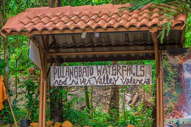 Pulang Bato Falls: Pulang Bato Falls Sign