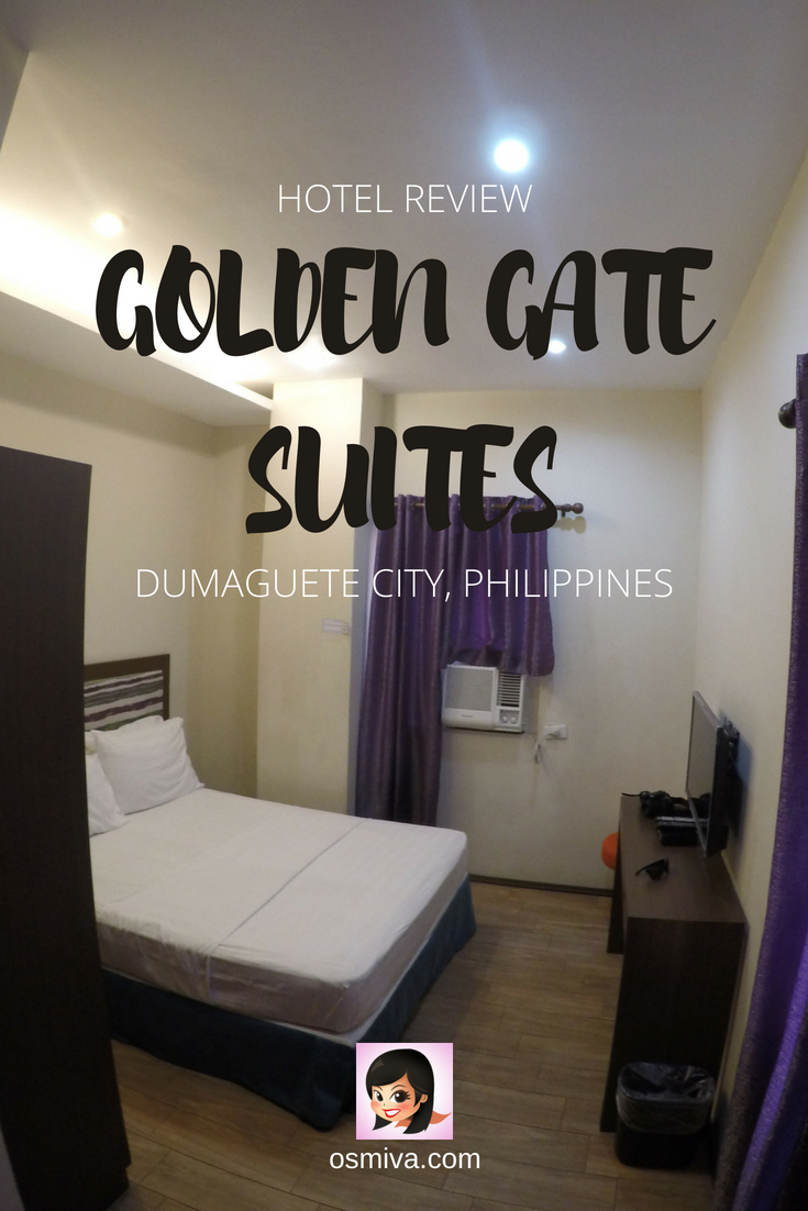 Dumaguete Hotel: A Review of the Golden Gate Suites Dumaguete Philippines. Our experience at staying at the hotel. #travelaccommodation #goldengatesuites #dumaguetephilippines #dumaguetehotels #hotelreview #osmiva