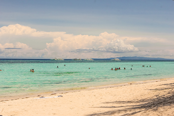 Panglao Bohol: Swimming in Bolod Beach