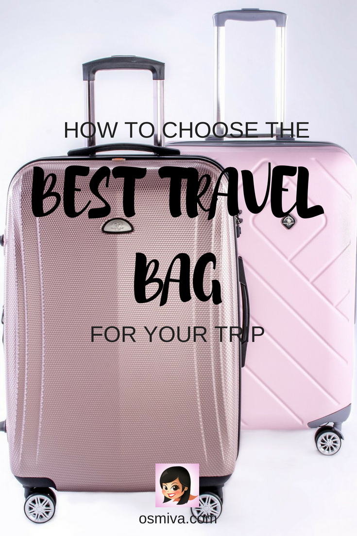 How to Choose the Best Travel Bag for Your Trip. Tips on choosing the best travel bag that suits your travel style and preference. Choose from pre-selected items that you can purchase for yourself or as a gift to a friend, family or partner who loves to travel. #travelguide #travelproduct #travelguide #dufflebag #luggage #traveltips #osmiva