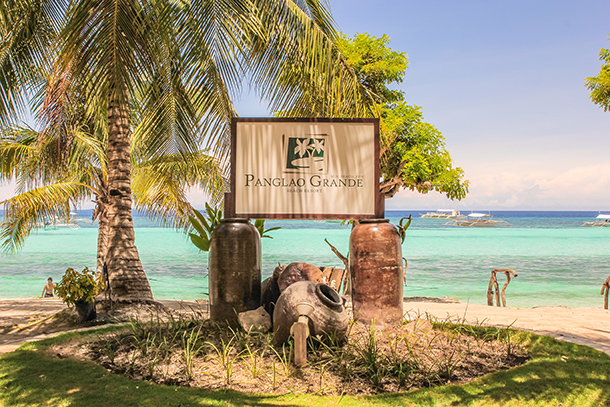 Panglao Resort Review: Panglao Grande Resort Signage