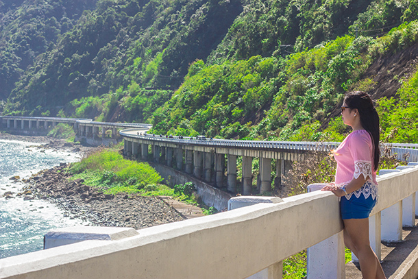 Why I Travelled Without my Daughter: Enjoying the view at the Patapat Bridge Ilocos