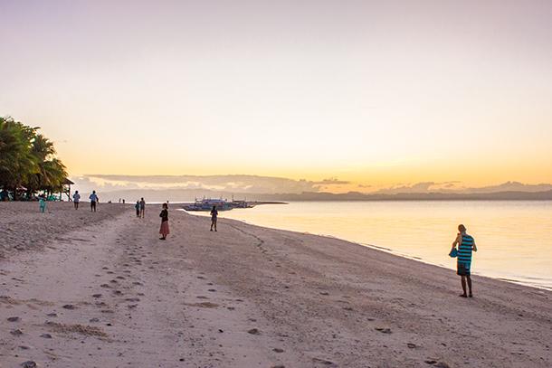 Photos of Kalanggaman Island: Morning Walk towards the Kalanggaman Island Sandbar