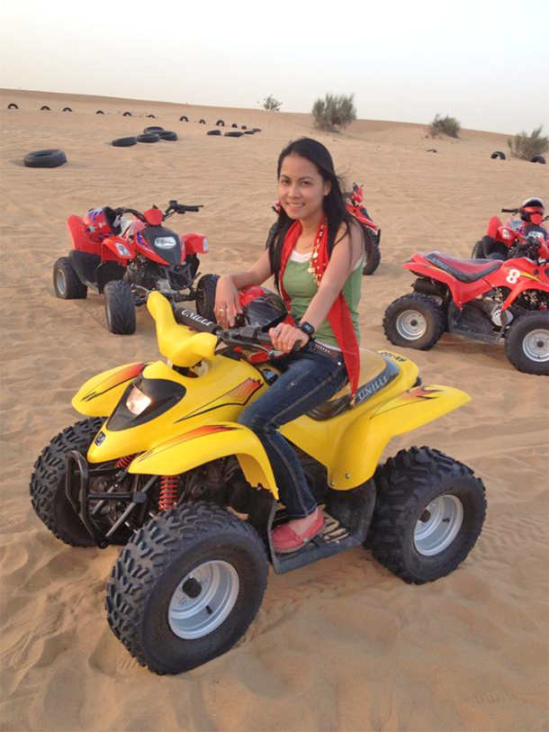 Things to Do Dubai: Quad Bike at the Desert Safari Camp