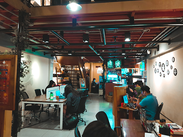 Co-Working Spaces in Cebu City: Workplace Cafe Entrance