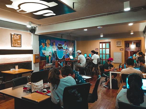 Co-Working Spaces in Cebu City: Cubicles and Chairs at Workplace Cafe